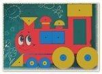 геометрический паровозик для детей.