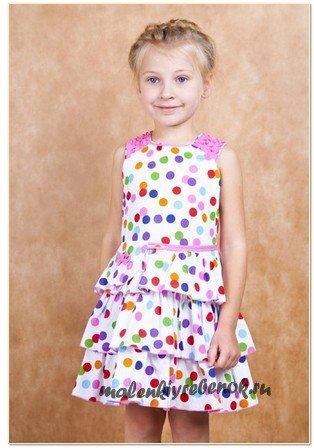 простое платье на лето для девочек