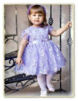 Красивое платье для девочки 1-2 года своими руками
